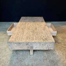 st 150 coffee table with double drawer