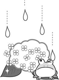 梅雨あじさいのイラスト無料イラスト