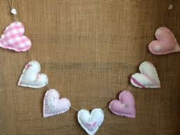 Heart Garland Bunting ~ Laura Ashley Pink ~ Bella Butterfly, Gingham,  Painterly, Abbeville & Gingham | Heart garland, Handmade heart, Bunting