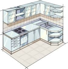 Apartment-Sized L-Shaped Kitchen