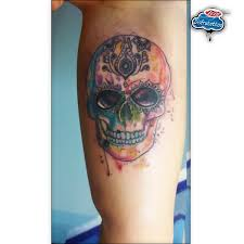 Toni Rodrigo Tattoo On Twitter Mexican Skull Watercolor Httpt