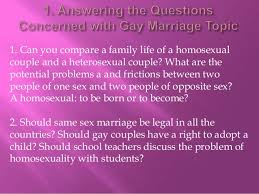 gay marriage essay 3