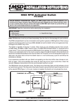 msd 8950 rpm activated switch installation manuals msd