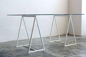 minimalist saw horse triangle table legs c 1960s at 1stdibs