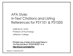 Apa Style For Powerpoint Apa Style Rn Program Resource Guide Libguides At