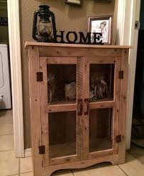 awesome pallet cabinet with wire mesh doors 70 pallet ideas for