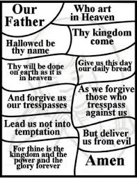 Lords Prayer Bulletin Insers Free Printable Coloring Pages And