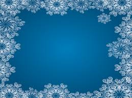 Snowflake Powerpoint Background Blue Frames Backgrounds
