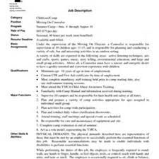 Camp Counselor Resume Sales Counselor Lewesmr