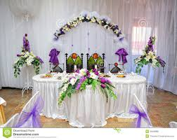decoration for table. Wedding Table Decoration Bride And Groom Stock Photo - Image Of Floral, Design: 46488860 For