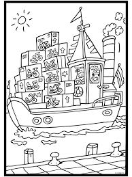 Kleurplaat De Pakjesboot Van Sinterklaas Kleurplatennl