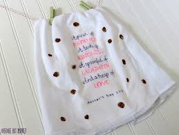 Kitchen Towel Craft A Mothers Day Craft Fingerprint Tea Towel
