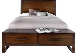bed. Abbott Hazelnut 3 Pc King Panel Bed With Storage
