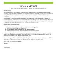 Cover Letter For Office Manager Cv Resume Ideas