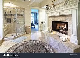 Opulent Bathroom Fireplace Stock Photo 57073486 - Shutterstock