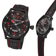 stuhrling original men s watches 59 for men s eagle brigade swiss quartz slim watch black red 141a 335564 345 list price