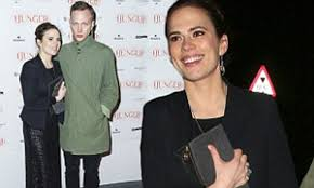 Hayley Atwell and new boyfriend Evan Jones attend the Hunger magazine cover  party