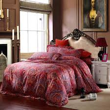paisley sheets king cotton red paisley bedding sets luxury king size queen quilt duvet cover bed