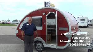 Small Picture SOLD Used Tear Drop Travel Trailer 2007 Dutchmen Tab YouTube