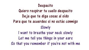 Despacito Lyrics In English And Spanish Luis Fonsi Ft Daddy Yankee