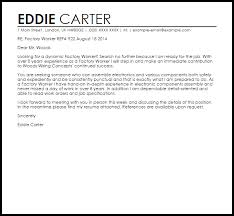 Brilliant Ideas Of Factory Worker Cover Letter Sample Epic Cover