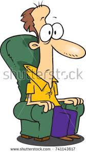 cartoon sofa chair. Cartoon Man Sitting In A Sofa Chair Mesmerized