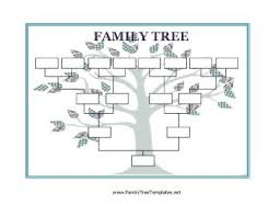 Family Tree Templates Microsoft Homeschool Printable Use This Blank Family Tree With Stylized Leaves
