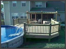 above ground pool with deck attached to house. Above Ground Pool Decks Ideas With Deck Attached To House E