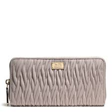 Lyst - Coach Madison Accordion Zip Wallet in Gathered Twist Leather ...