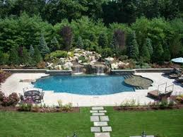 Swimming Pool Landscape Design Backyard Swimming Pool Landscaping .