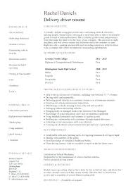 Entry Level Sample Resume Unique Sample Resume For Delivery Jobs Plus Entry Level Delivery Driver