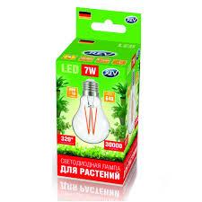 <b>Светодиодная фитолампа LED</b> А60 E27 7W FILAMENT 575 ...