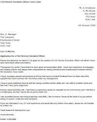 Sir Or Madam Cover Letter Civil Service Executive Officer Cover Letter Example