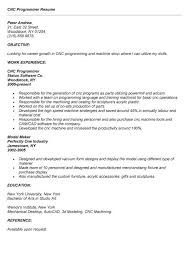 cnc programmer resume cnc programmer cv sample myperfectcv