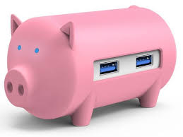 <b>ORICO Cute Pig</b> HUB 3 Ports USB3.0 High Speed HUB and TF SD ...