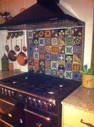mexican tile island marine plywood butcher block top and mexicans