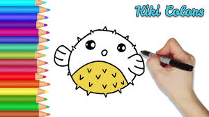 how to color puffer fish part 2 teach