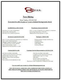 Resume Warehouse Resume Example