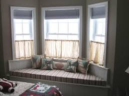 Bay Window Curtain Rods -Double Bay Window Curtain Rod Set