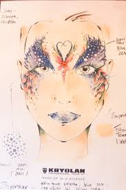 Face Charts For Sale Kryolan Professional Make Up Charts