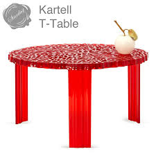 kartell t table modern round coffee end table by patricia urquiola