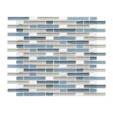 cyclove 10 875 in x 13 25 in x 8 mm glass stone mosaic wall