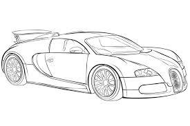 Kleurplaten Auto Bugatti Veyron