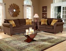Living Room Sofa And Loveseat Sets Chocolate Fabric Elegant Living Room Sofa Loveseat Set