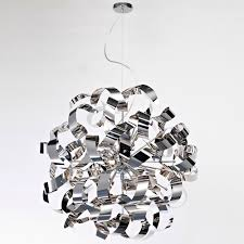 artcraft ac601ch bel air modern chrome halogen 24 nbsp pendant light fixture loading zoom