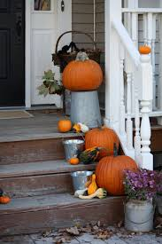 Old Door Decorating Amazing Fall Front Door Decorating Idea With Hanging Jack O