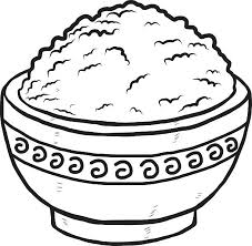 bowl of rice clip art. Beautiful Rice Rice In Bowl Vector Art Illustration In Bowl Of Rice Clip Art D