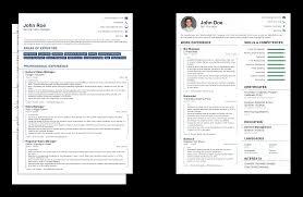 Curriculum Vitae Vs Resume Sample Empty Resume Template Cv And