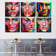 <b>6 Pcs</b>/ <b>Set Francoise</b> Nielly Designer Cool Face 6 faces Art Palette ...