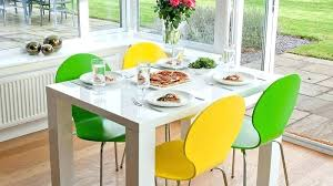 small white dining set 2 gloss table and chairs modern yellow tables 6 grey